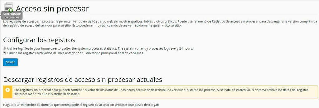 acceso sin procesar