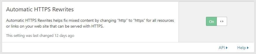 cloudflare automatic https rewrites